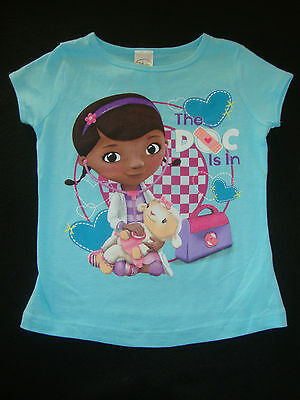 """Disney Doc Mcstuffins Graphic  Tee  Shirt Nwts """"the Doc Is In """""""