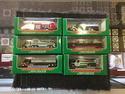 Lot Of Six Miniature HESS Trucks - MINT - FAST S&H!