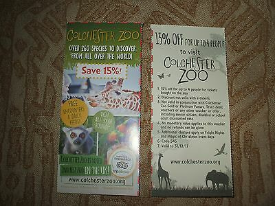 Colchester zoo Discount Voucher.  15% OFF For up to 4 people.