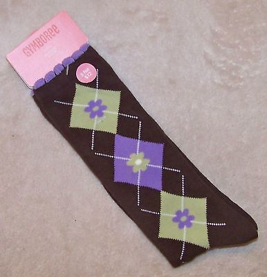 NWT 5 6 7 Years Gymboree COWGIRL AT HEART Brown Argyle Knee Socks