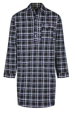 Mens Brushed Cotton Flannel Nightshirt  Sizes M To 3Xl, Striped And Patterned