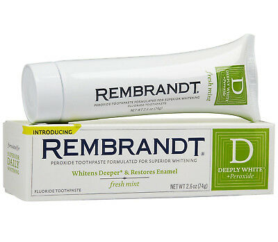 Rembrandt Deeply White Peroxide Fluoride Whitening Toothpaste - Fresh Mint