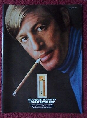 1969 Print Ad Tiparillo M Cigar ~ Long Playing Cigar Long On Looks & Pleasure