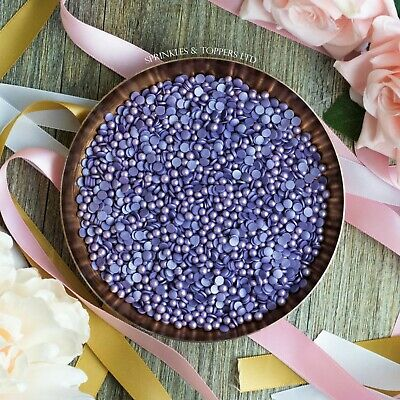 Purple Glimmer Pearls & Confettii Mix Cupcake / Cake Decorations Sprinkles