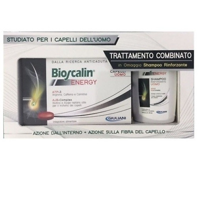 Bioscalin energy capelli uomo 30 compresse + shampoo rinforzante 100ml