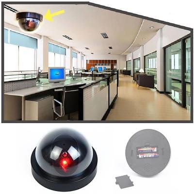Dummy Fake Surveillance Security Dome Camera Flashing Red LED Light Sticker WT