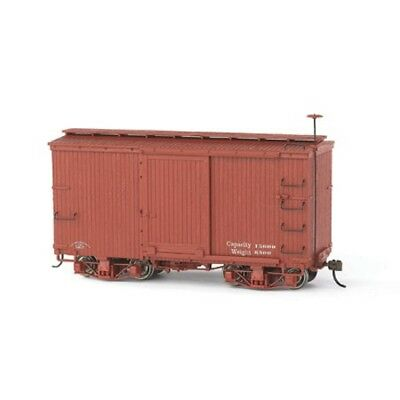 Bachmann 26501 On30 Scale Spectrum 18' Box Car, Oxide Red, Data Only (2 cars)New