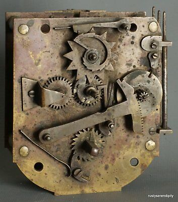 French 18c Timepiece Movement with Pull 1/4 Repeat Gourdain A Paris