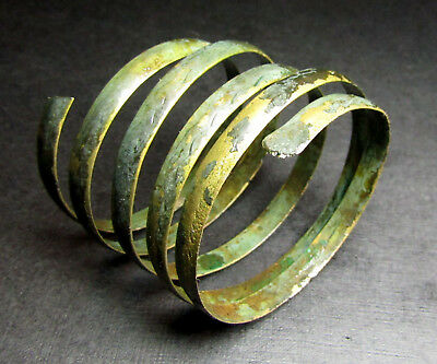 Ancient Bronze Viking Twisted Bracelet. Сleared. Small.