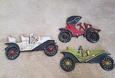 Vintage midwest Aluminum Cast cars lot of 3 Buick etc