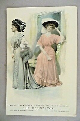 The Delineator Magazine Two-Page PRINT AD - 1907 ~~ fashion