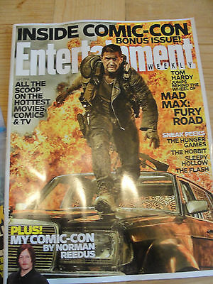 Sdcc Entertainment Weekly Bonus Issue Norman Reedus Tom Hardy Mad Max Fury Road