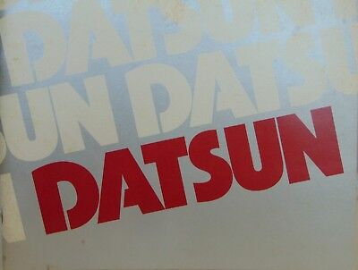 1977 Datsun B-210, 200sx, 280-, 810-Z, and Others Color Brochure From Nissan