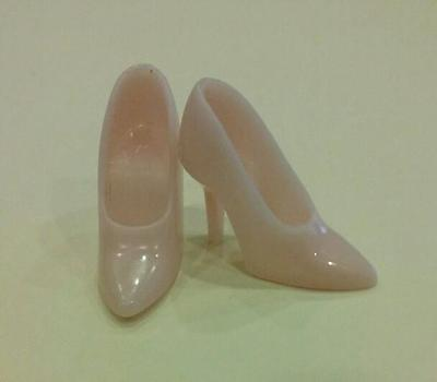Vintage Barbie Repro/reproduction-Light Pink Closed-Toe Spikes Shoes-Mint