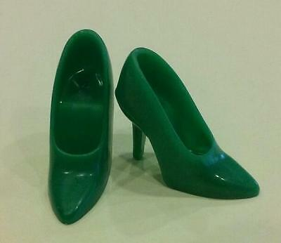 Vintage Barbie Repro/reproduction-Green Closed-Toe Spikes Shoes-Mint