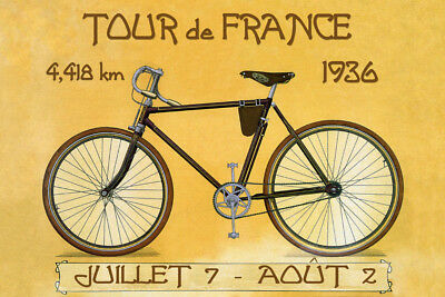 Tour de France Bike Bicycle Cycle 1936 Race Sport Vintage Poster Repro FREE S/H