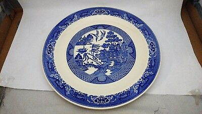 "LARGE Royal China - Willow Ware 13 1/2"" Large Round Chop Plate / Platter"