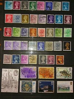 Estate Find Great Britain UK Stamps used  Unchecked nice selection(218)