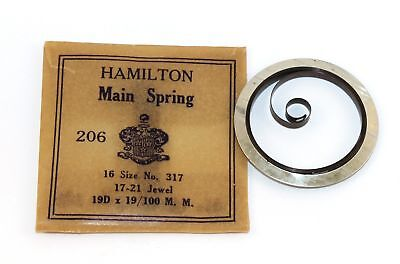 HAMILTON 16s Pocket watch MAINSPRING Part# 317 GR92