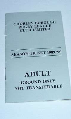 Chorley Adult Season Ticket Season 1989/90, In The Name Of Paul White
