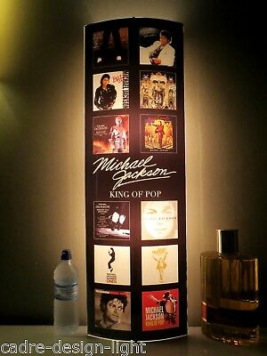 MICKAEL JACKSON KING OF POP SUPPORT LUMINEUX,APPLIQUE,TABLEAU, LAMPE ht 91*30 CM