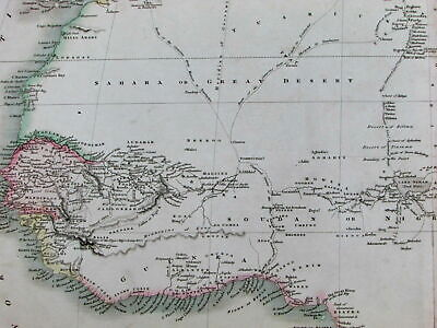 North Africa Great Sahara Desert Mountains of Moon myth c.1815 scarce Smith map