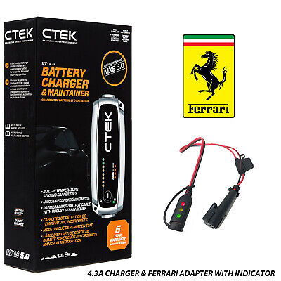 Ferrari Battery Charger Custom Adapter for CTEK 360 F430 458 California 599 612