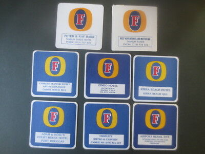"""8 different FOSTERS LAGER / Brewery """"special Issue"""", collectable  COASTERS"""