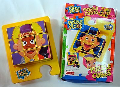 The Puzzle Place  Puzzle Cubes  Fisher Price 1995 - excellent condition