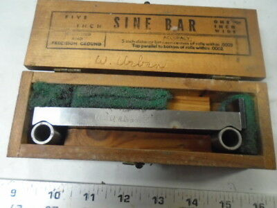 MACHINIST TOOLS MILL LATHE Machinist  Sine Bar Block in Case