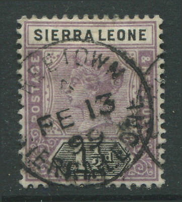 Sierra Leone QV 1897 1 1/2d lilac & black CDS used