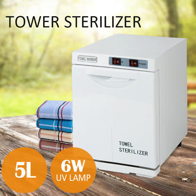 5L Towel Warmer UV Sterilizer Cabinet Heater Salon Disinfection Facial Beauty