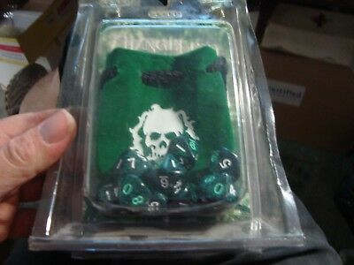Changeling The Lost 2007 10x Dice Set 10 sided and Dice Bag New Unopened!