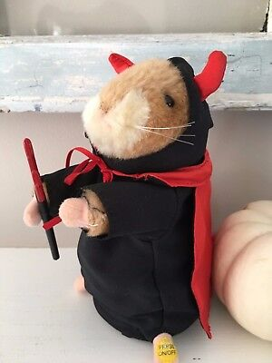 Dancing Singing Hamster Hot Stuff Devil Halloween Valentines Day Gemmy