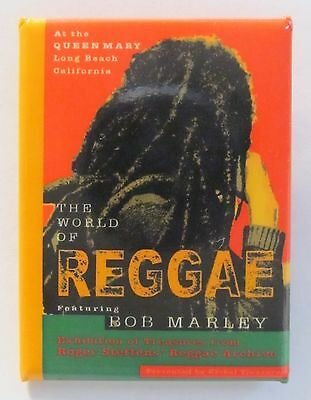 WORLD OF REGGAE featuring BOB MARLEY Queen Mary Exhibition pinback button