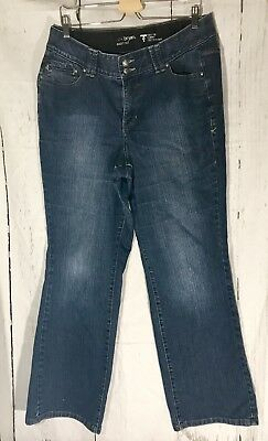 Lane Bryant ladies size 14 tummy control denim jeans Dark Wash  M9
