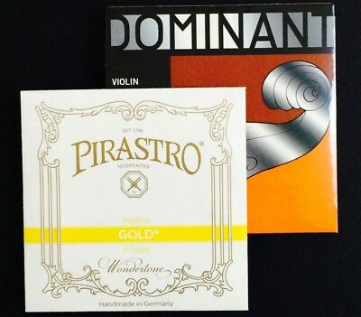 Thomastik Dominant Violin String Set, Medium, with Gold Label E Ball End 4/4