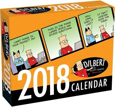 Dilbert 2018 Day-to-Day Boxed Desk Calendar by Andrews Mcmeel, Postage Included