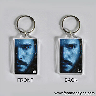 Game Of Thrones - Jon Snow - Kit Harington -  Photo Keychain