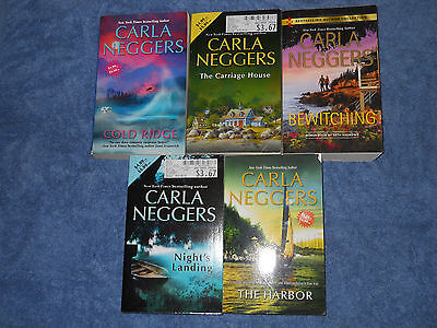 Lot 5 Carla Neggers paperback books Bewitching Harbor Cold Ridge Night's Landing