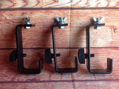 LIGHT TRUSS CLIPS CLAMPS BLACK SOLID STEEL band Lights