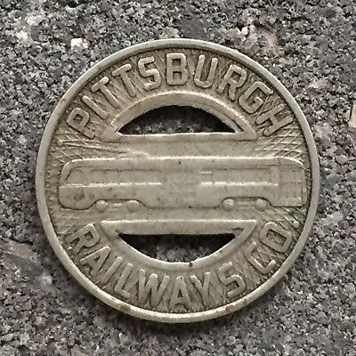 Pittsburgh Railways Co / Good For One Fare - About 1940's