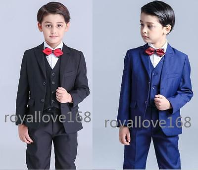 Newest Boys Suits Kids Wedding Suits Groom Tuxedos party Prom Suits 5 Piece