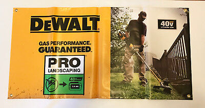 DeWalt Tools 40V Max Pro Landscaping Vinyl Banner 47 Inches X 24 Inches