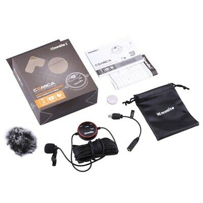 Comica Omnidirectional Lavalier Microphone Lapel Mic for DSLR GoPro Smartphone