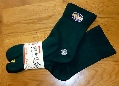 BNWT Dark Green Stretchy Split Toe Tabi Socks For Geta/Zori/FlipFlop UK 3-5 23cm
