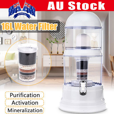 8 Stage Water Filter Top Ceramic Carbon Mineral Dispenser Purify Purifier Bottle