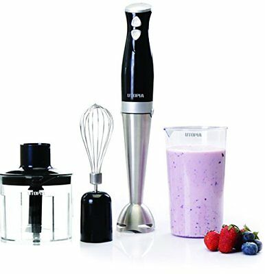 "Hand Blender Premium with 8"" Removable Blending Arm - by Utopia Home"