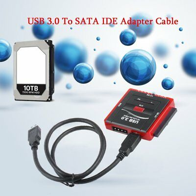 """USB 3.0 to 2.5"""" 3.5"""" IDE SATA Cable HDD Clone Converter Adapter AU PM"""