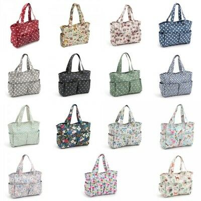 HobbyGift Craft Bag: Matt PVC Sewing Knitting Shopping